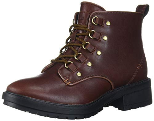 Cole Haan Women's Briana Grand LACE-UP Hiker Boot Hiking, CH Woodbury WP Leather/Black, 5 B US