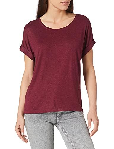 ONLY Damen ONLMOSTER S/S O-Neck TOP NOOS JRS T-Shirt, Zinfandel, L