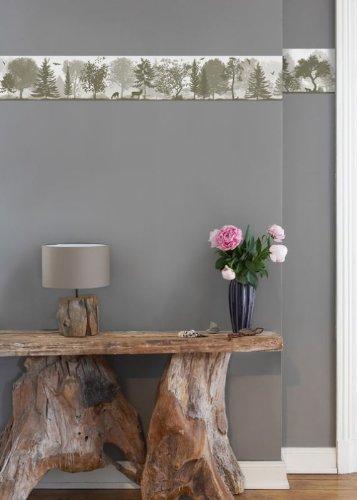 anna wand Bordüre QUIET REVOLUTION/SCHMAL BEIGE, 450 cm x 11,5 cm, Querformat, selbstklebend, für Wände und Möbel