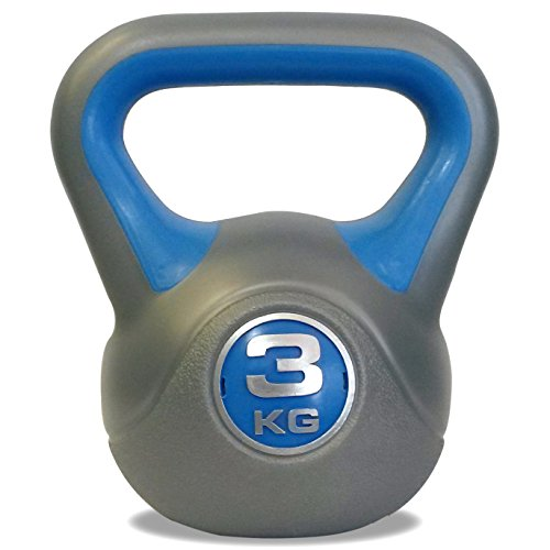 DKN Unisex's Vinyl Kettle Bell-Grey/Blue, 10 kg