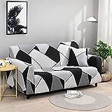 Fundas de sofá elásticas para sofá Universal elásticas a Cuadros LuanQI para Sala de Estar, sofá, Silla, Funda para sofá, decoración del hogar, A2, 3 plazas