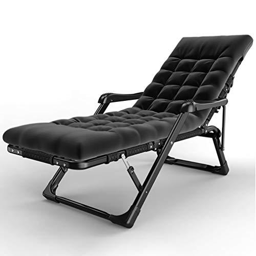 Chaise Lounge Outdoor con Almohadilla Gruesa de algodón, sillón reclinable, Silla Plana de Tubo Grueso y Grueso, Soporte de Superficie 350lbs, con Masaje, reposabrazos y Masaje de pies