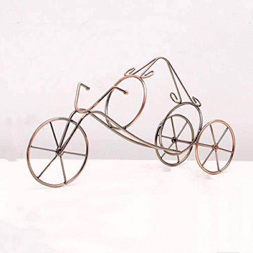 YASEking Arte del Vino Decoraciones Craft Triciclo Estante de exhibición de Hierro Forjado de pie salón de decoración del hogar del Estante del Vino 4