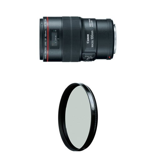 Canon EF 100mm f/2.8L IS USM Macro Lens for Canon Digital SLR Cameras w/ B+W 67mm HTC Kaesemann Circular Polarizer