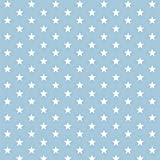 babrause® Baumwollstoff Sternchen Hellblau Webware