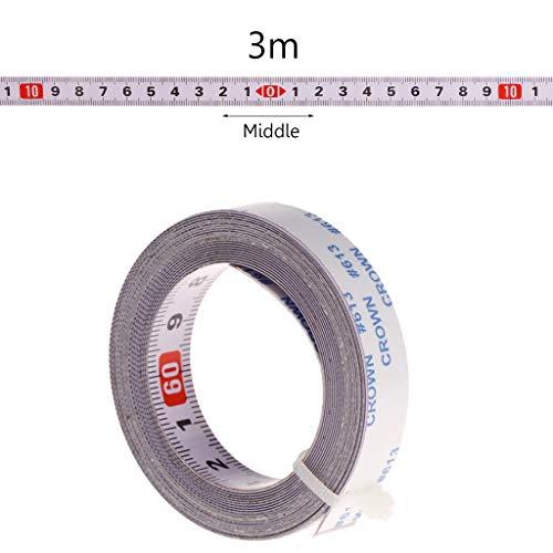 ZChun verstekzaag meetlint zelfklevende achterkant metrisch stalen liniaal 1/2/3 / 5M, M-3m, 1