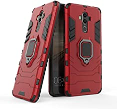 Cocomii Black Panther Ring Huawei Mate 9 Case, Slim Thin Matte Vertical & Horizontal Kickstand Ring Grip Reinforced Drop Protection Fashion Phone Case Bumper Cover Compatible with Huawei Mate 9 (Red)