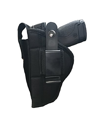 Nylon Belt or Clip on Gun Holster Fits HI-Point C-9, CF-380: 9MM