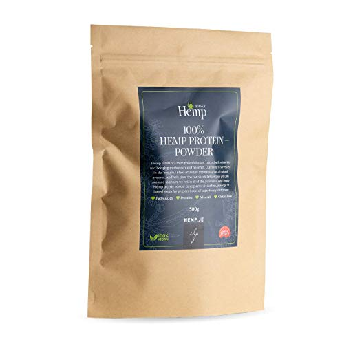 Jersey Hemp Vegan Protein Powder, 100% Natual Plant Based Vegan & Vegetarian Friendly Organic Hemp Protein Powder with Natural Minerals
