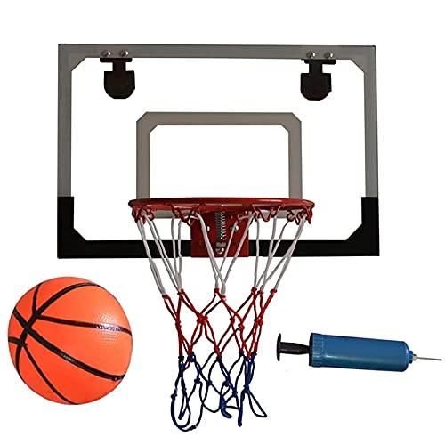 ZLASS Mini aro de Baloncesto, aro de Baloncesto Interior de Pared y Conjunto de tableros, con una Bola y una Bomba Manual, Utilizada para niños y Juegos de Dunk de Slam de Adultos