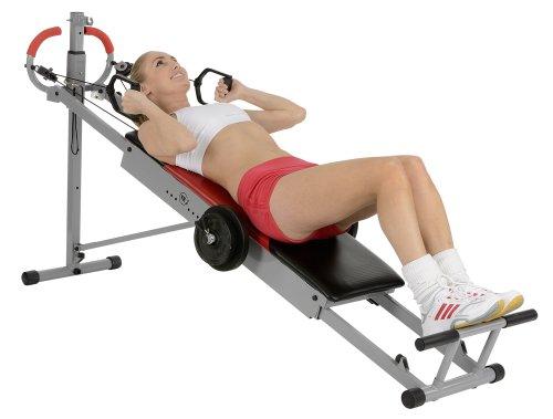 Christopeit Sport Total Exerciser TE 1 - Ganzkörpertrainer klappbar - Multi-Gym - Oberkörper, Arm, Brust, Bauch, Rücken