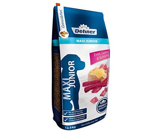 Dehner Premium Hundetrockenfutter Maxi Junior, Ente und Lamm mit Kartoffel, 12.5 kg