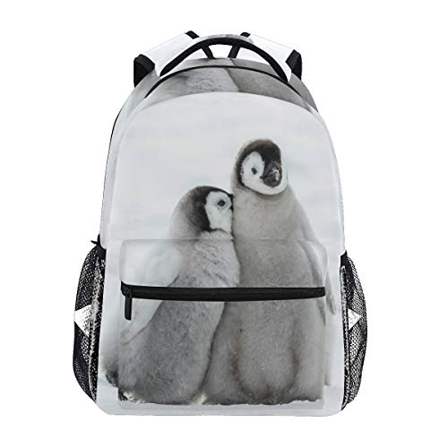 JUMPBEAR Travel Backpack Laptop Slim Waterproof Durable Casual Daypack for Women Men Snow Penguins College Schoolbag