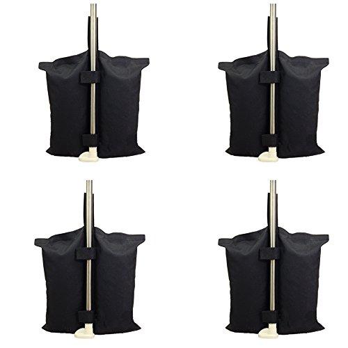 Industrial Grade Heavy Duty Double-Stitched Gewichte Tasche, Bein Gewichte für Pop-up Baldachin Zelt Weighted Feet Bag Sand Bag 4er-Pack, Schwarz. (4 STÜCK)