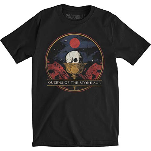 Queens de la Edad de Piedra hombre c?liz Slim Fit T-Shirt Vintage