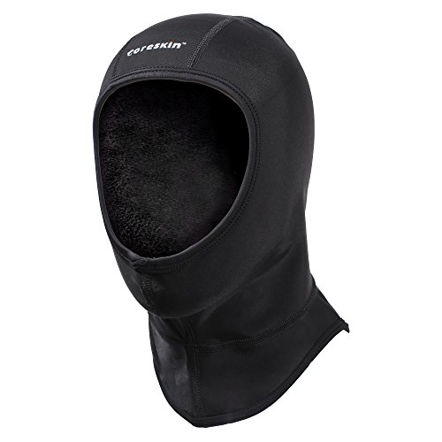 Coreskin Wetsuit Dive Hood 3mm Lycra Extra Warm 4 Way Stretch, Flow Vent No Trapped Air Face Seal for Water Sports in Cold (M Size)