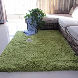 ZINNI - Carpet - Thickened washed silk hair non-slip carpet living room coffee table blanket Bedroom bedside mat yoga rugs...