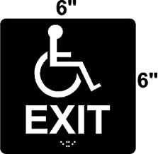 ADA Compliant Handicap EXIT Sign with Wheelchair 6
