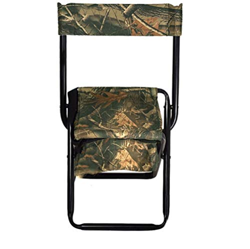 Multifonctionnel pliant chaise extérieure dossier tabouret compact chaise pliante sac de rangement épaissie bandoulière camping randonnée support 150 kg (Color : A)