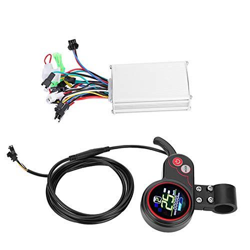 Controlador de velocidad de scooter Controlador sin escobillas Pantalla LCD con accesorio de interruptor de cambio para scooter de bicicleta eléctrica(Modo dual de pantalla a color de 60V 250 / 350W)