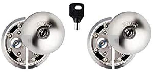 UFO Meroni 8080332315D - Serratura con cilindro di sicurezza antitrapano, anti-picking per il Vano di Carico dei Furgoni, Nickel Opaco