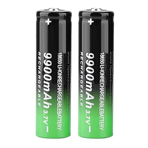 【 】 Batterie ad Alta capacità, bellissime batterie di Piccole Dimensioni, Facili da trasportare di Grande capacità 9900 mAh 3,7 V 2 Pezzi per Torcia