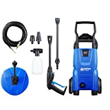 Nilfisk 128471003 Idropulitrice ad Alta Pressione 110 Bar (Include Il Patio Cleaner e Lo scovolo), 1400 W, 230 V, Black, Blue