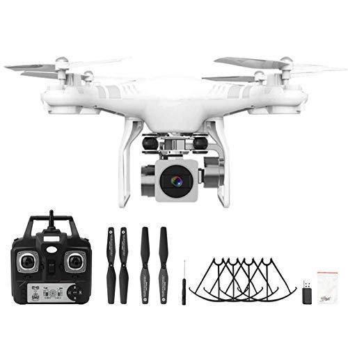 Demeras Drone RC Drone 1080p Telecamera ad Alta Definizione Drone modalità Senza Testa Telecomando Quadcopter Drone(Bianca)