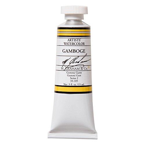 M. Graham 1/2-Ounce Tube Watercolor Paint, Gamboge (33-105)