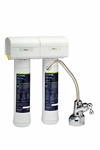 Ecopure ECOP20 Systema de Filtración de Agua para Instalar Debajo del Fregadero, Blanco