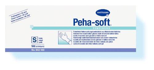 100 Peha-soft powderfree Latexhandschuhe Gr. XS, Einmalhandschuhe, u.-Handschuhe
