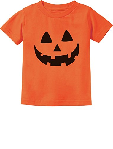 Jack O' Lantern Pumpkin Face Halloween Costume Toddler Infant Kids T-Shirt 24M Orange