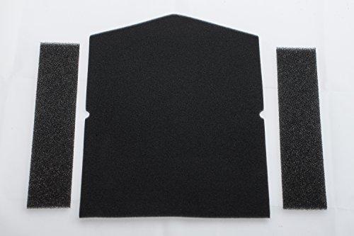 Miele 7358901 Kit de filtres pour sèche-linge à pompe à chaleur comprenant 1 filtre de porte et 2 filtres d'entonnoir