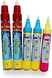 HOMSEEK 5Pcs Water Doodle Pens Aqua Drawing Doodle Pens,Replacement Water Pens for Doodle Mat Water Book