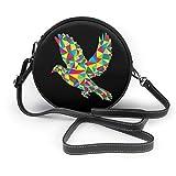 baowen borsa a tracolla in pelle con tracolla rotonda classica geometrica uccello della pace