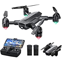 Dragon Touch Foldable WiFi Camera Drone with Gravity Sensor, Altitude Hold, Headless Mode, One Key Take Off/Landing