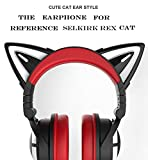 New Edition 3RGB Wireless Bluetooth5.0 Cat Ear Headphones (10 Color Changing) (red)