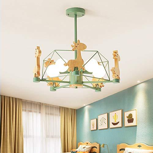 SHENLIJUAN Techo calienta la lámpara Verde Amarillo lámpara de luz de la habitación Comedor Habitación Simple diversión de los niños de Estar Estudio (Color : White Light)