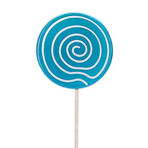 ABOOFAN Lollipop Prop Arcilla Caramelo Adornos Adorno Azul Remolino Piruleta Carnaval Cosplay Boda Cumpleaños Suministros de Juguete
