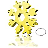 Gift for Men 18-in-1 Snowflake Multi Tool, BLEDS 18 in 1 Snowflake Tool, Stainless Steel Tool Screwdriver Snowflake Multitools for Christmas New Year Gift (Gold)