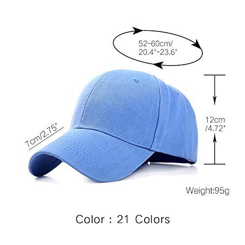 ZOZO Plain Baseballmütze Damen Herren-Hut/klassisch Polo-Stil Hut/Freizeitsport im Freien verstellbare Kappe/Art und Weise Unisex,Himmelblau