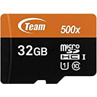 Deals on Team 32GB microSDHC UHS-I/U1 Class 10 Memory Card w/Adapter