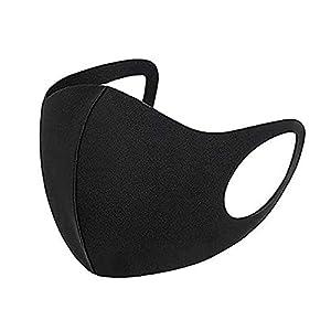 AiBLii Set di 3 protezioni per viso anti polvere, riutilizzabili e lavabili per esterni, unisex, per uso personale, colore: Nero