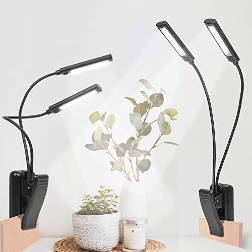GOESWELL Luz LED Acuario Lámpara Impermeable Con Clip,Luz Pecera Pantalla LED Acuario Con 32 Luces LED,Iluminacion LED Para Acuarios Para Plantas y Acuarios