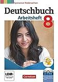 Deutschbuch Gymnasium 8. Schuljahr. Arbeitsheft mit Lösungen und Übungs-CD-ROM. Niedersachsen