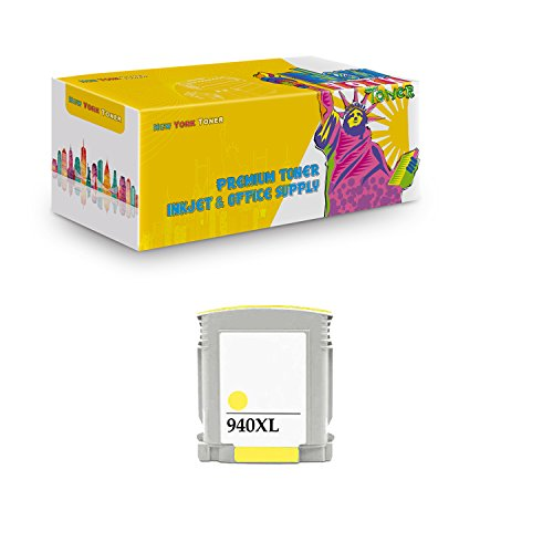 NYT Compatible High Yield Inkjet Cartridge Replacement for C4909AN 940 XL for HP OfficeJet Pro OfficeJet Pro 8000,Pro 8500,Pro 8500a,Pro 8500a Plus (Yellow,1-Pack)