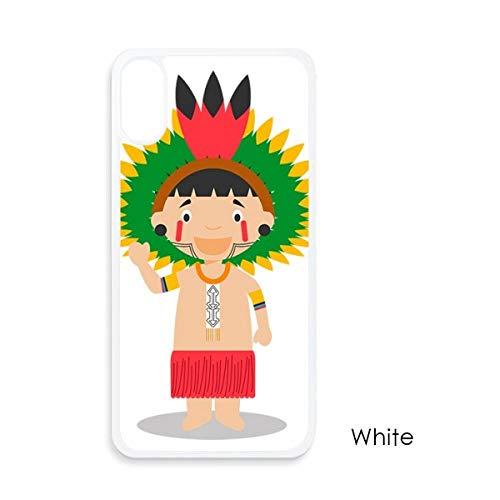 beatChong Amazon Rojo De Dibujos Animados Brasil Venezuela para El iPhone X Casos Phonecase Blanca Caso De La Cubierta De La Manzana De Regalo