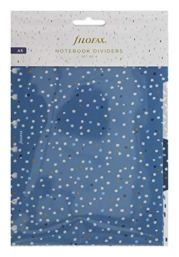 Filofax Indigo A5 Notebook Dividers, 142126