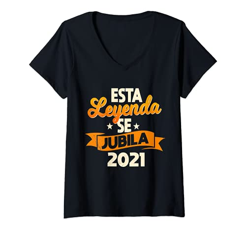 Mujer Regalo Original Jubilación Hombre Leyenda Se Jubila 2021 Camiseta Cuello V