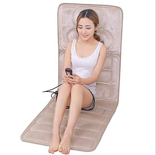 Pkfinrd Auto-massagekussen, elektrische schok-lichaamsmassage-deken, multifunctionele verwarmingsmassage-matraskussen, massage-uitrusting voor oudere mensen, opvouwbaar